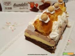 Mattonella Buondolce con gelato alla crema, nocciola e bigne