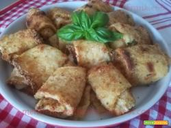 Involtini di zucchina impanata al forno
