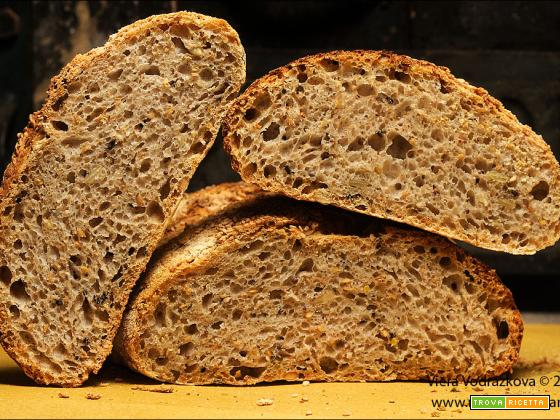 Pane ricco di semi,grani antichi e pasta madre