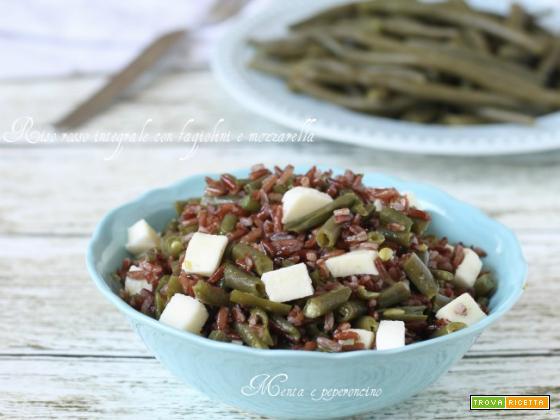 Riso rosso integrale con fagiolini e mozzarella