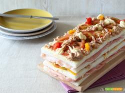 Torta tramezzino o sandwich cake