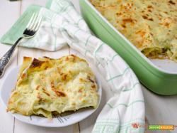Lasagne con pesto di zucchine e pancetta