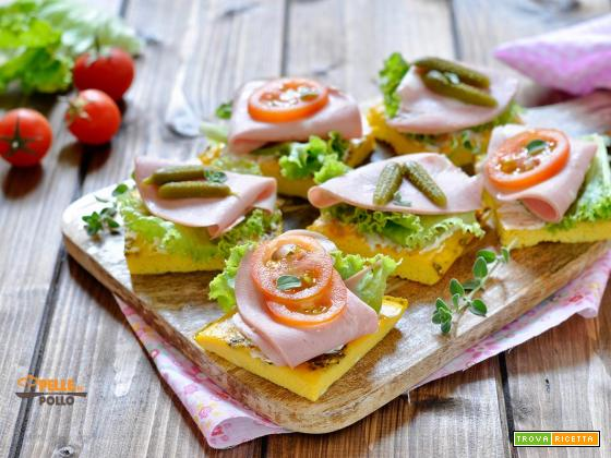 Stuzzichini di frittata con salumi e verdure