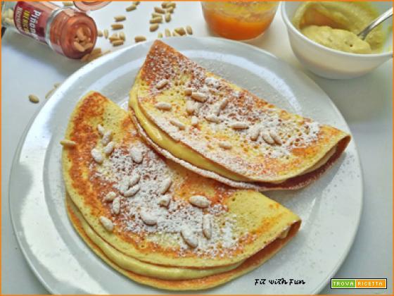 Crepes Torta della Nonna Proteiche e Senza Glutine