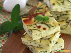 Flan greco di Zucchine, Feta e Menta