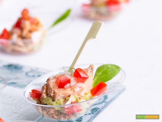 Finger food salmone e avocado
