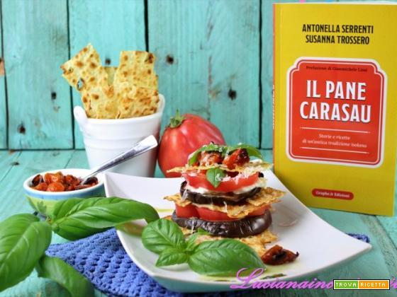 Ricetta con pane Carasau: millefoglie salata