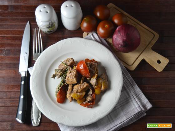 Bocconcini di pollo con salsa al patè di olive