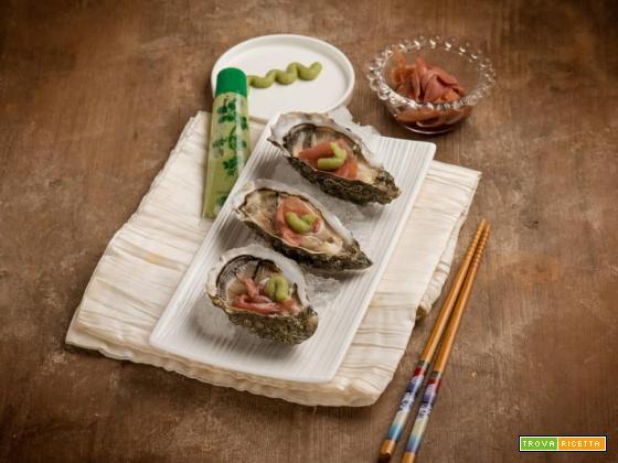 Stuzzicando il palato: ostriche con wasabi e zenzero