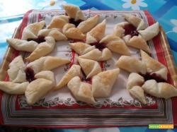 Girandole con marmellata di ciliegie