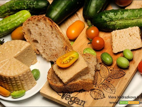 Formaggio vegan con anacardi, miso e Optiliq