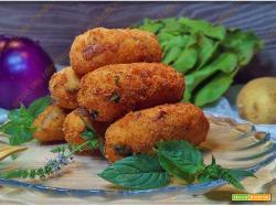 Crocchette di melanzane patate e ricotta