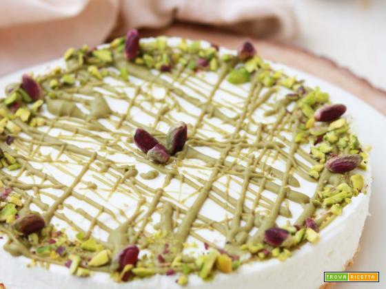 Cheesecake allo yogurt e pistacchio