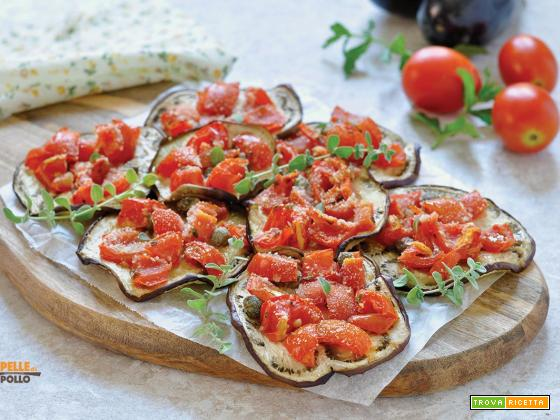 Melanzane gratinate con pomodorini