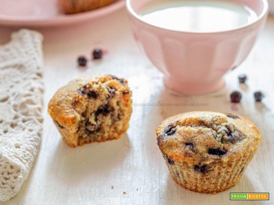 Muffins integrali ai mirtilli