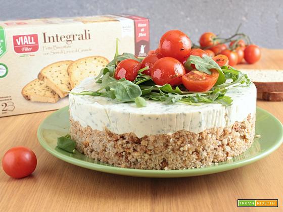 Cheescake Salata con Fette Biscottate VIALL senza glutine