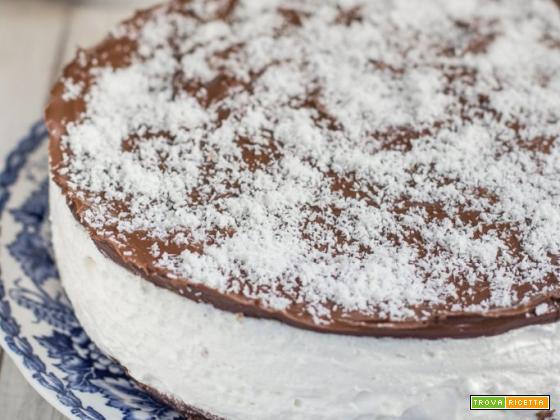 Torta fredda al cocco e nutella – ricetta in 30 minuti