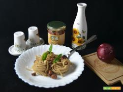 Fettuccine con mortadella e fagioli