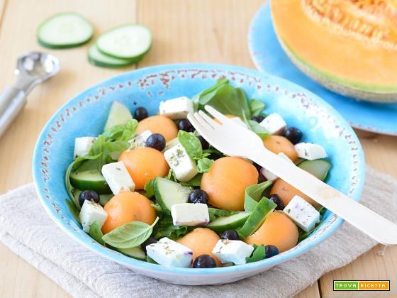 Insalata di Melone Mirtilli e Feta