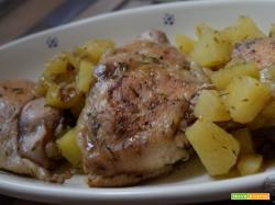 Pollo e patate al timo
