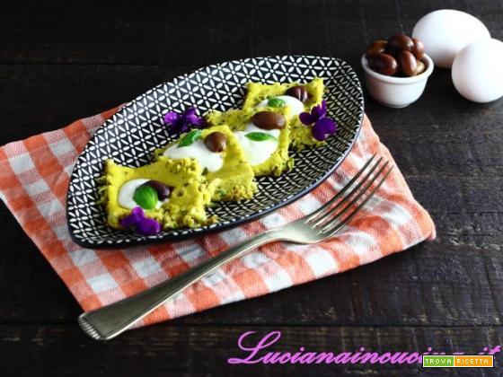 Frittata con zucchine, olive e squacquerone