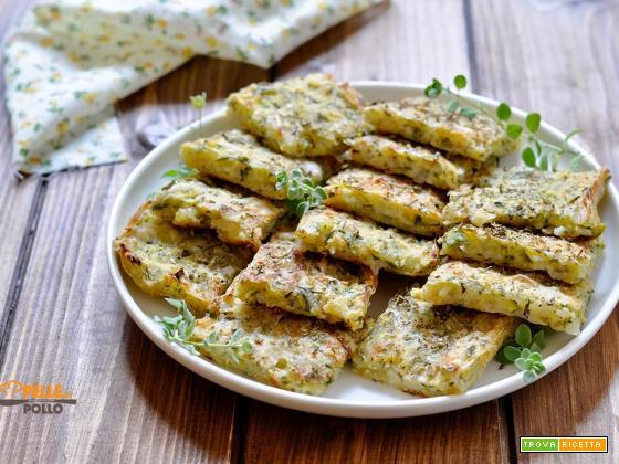 Focaccia veloce con zucchine e cipolla