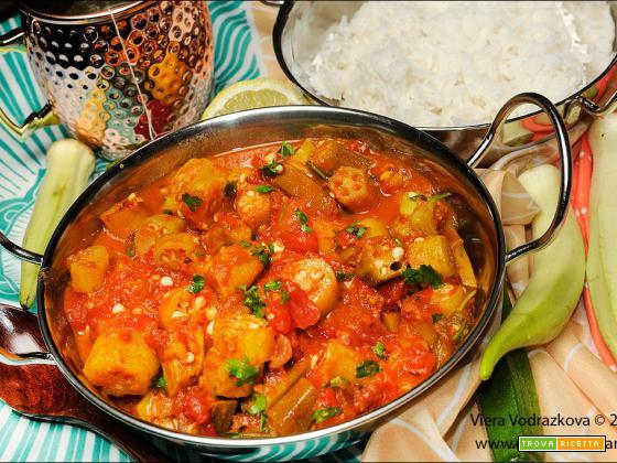 Bhindi (okra ) curry a modo mio con Basmati