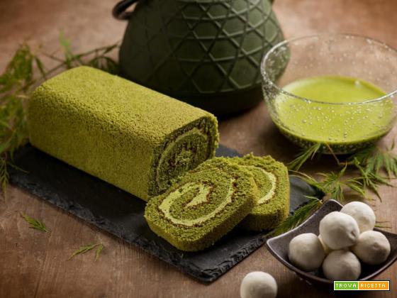 Cake roll al tè Matcha il rotolo Giapponese di pura bontà