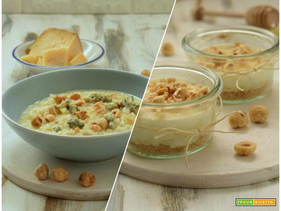 Menu Palagiaccio: risotto e mousse cake