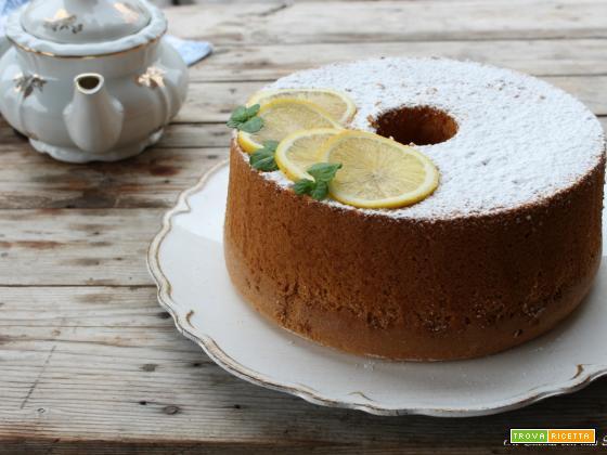 Chiffon cake al limone sofficissima
