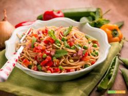 Spaghetti d'estate, per una pasta coloratissima!
