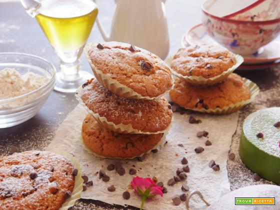 Muffin con Uvetta e gocce di Cioccolato