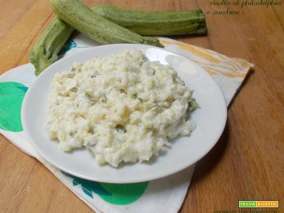 Risotto al philadelphia e zucchine
