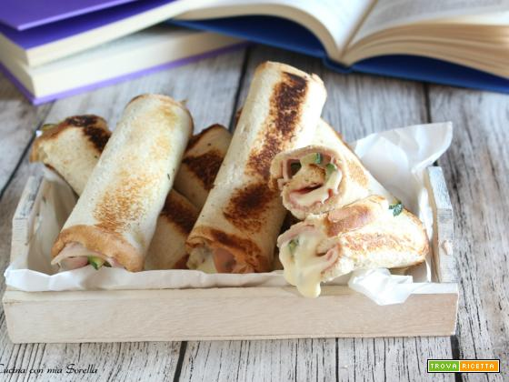 Involtini di pancarrè prosciutto e zucchine