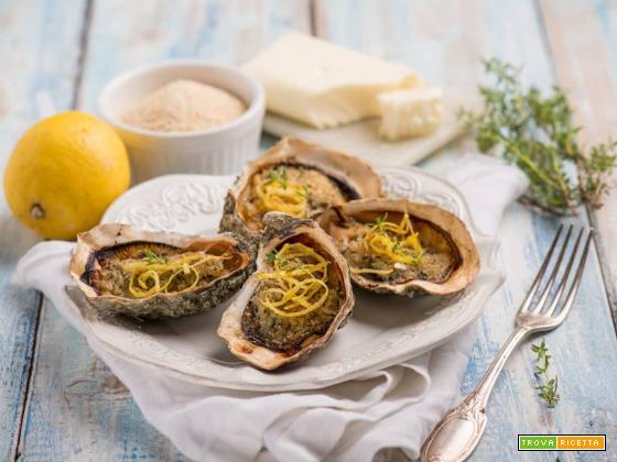 Un antipasto di lusso con gustose ostriche al gratin