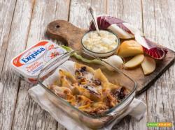 Senza lattosio: conchiglioni con radicchio e formaggio