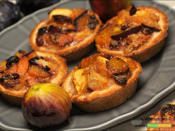 Tortini di frutti autunnali senza glutine