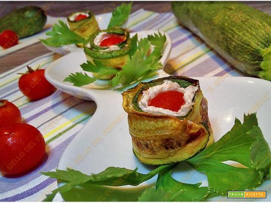 Involtini di zucchina con formaggio e tonno