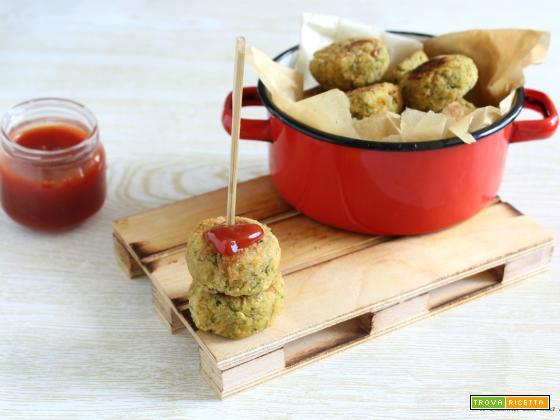 Polpette di tonno e zucchine al forno
