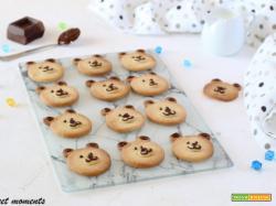 Biscotti orsetti di pasta frolla alle mandorle