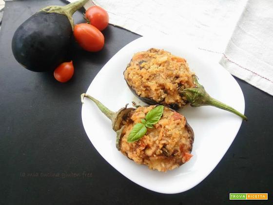 Melanzane ripiene di riso