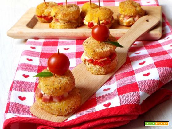 Mini sandwich di patate