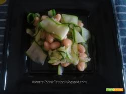 Zucchine in insalata con fagioli
