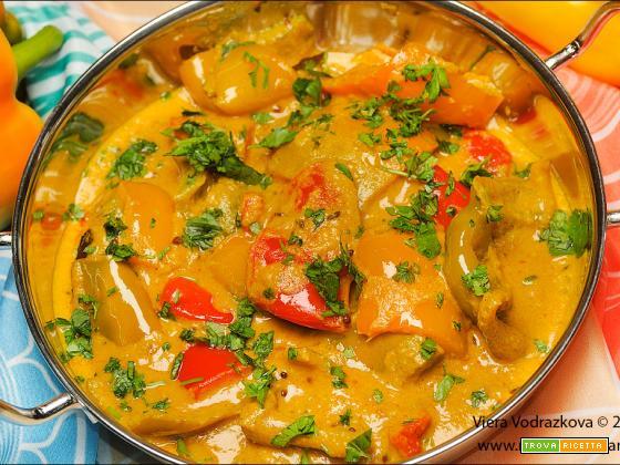 Shahi Shimla Mirch Curry  – curry ai peperoni di Shimla