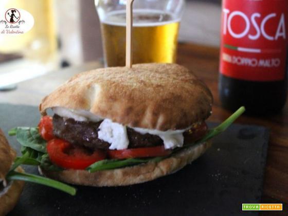 Caprino burger con carne di scottona
