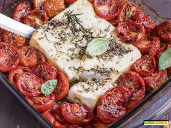 Feta al forno con i pomodori