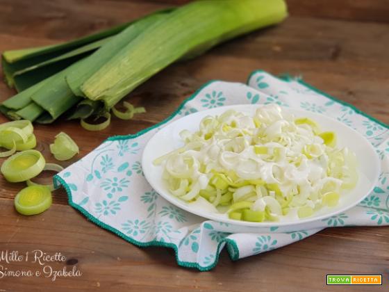 Insalata di poro agrodolce o salata
