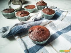 Muffins al cioccolato ripieni di crema alle nocciole