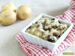 Sformato di patate salsiccia e melanzane