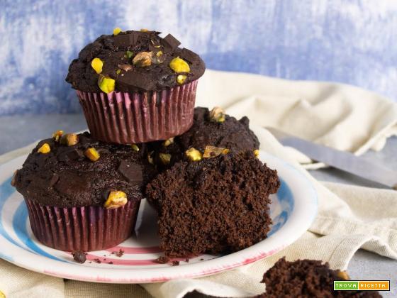 Muffin al Cioccolato (e Pistacchi)